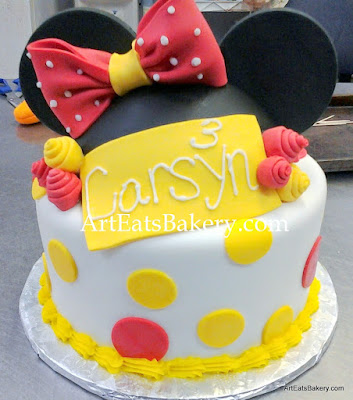 Mickey Minnie Mouse custom birthday cakes Art Eats Bakery