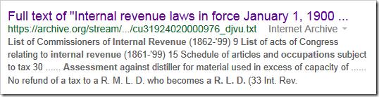 _内部收入法律的谷歌结果为1900年1月1日