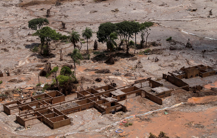 The debris of the municipal school of Bento Rodrigues district, which was covered with mud after a dam owned by Vale and BHP Billiton burst in November 2015. Picture: REUTERS/RICARDO MORAES