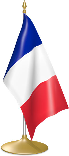 French table flags - desk flags