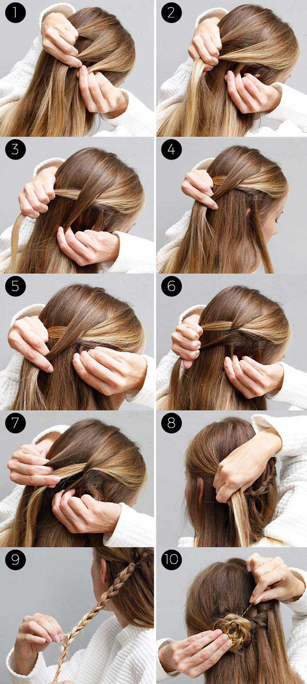 ِAwosome Half up-Half down Hairstyles And TUTORIAL for long hair 6