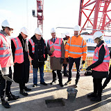 OIC - ENTSIMAGES.COM - Luke Rittner - Chairman LAMDA, Timothy West CBE - President LAMDA, Rt Hon Shaun Woodward Act Now Chair and Vice Chairman LAMDA and Joanna Read - Principal LAMDA at the  VIP 'topping out' of the new LAMDA building in London 20th January 2015 Photo Mobis Photos/OIC 0203 174 1069