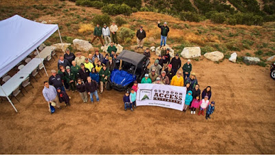 Yamaha Outdoor Access Initiative volunteers