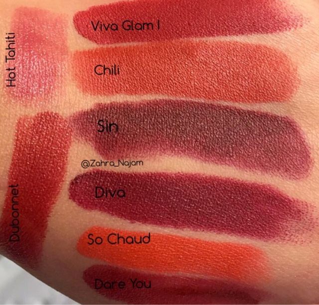 MAC red lipsticks swatches - Beauty And The Muslimah