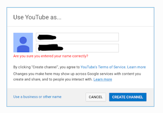 """Where you get this error, click on """"Use a business or other name"""" at the bottom."""