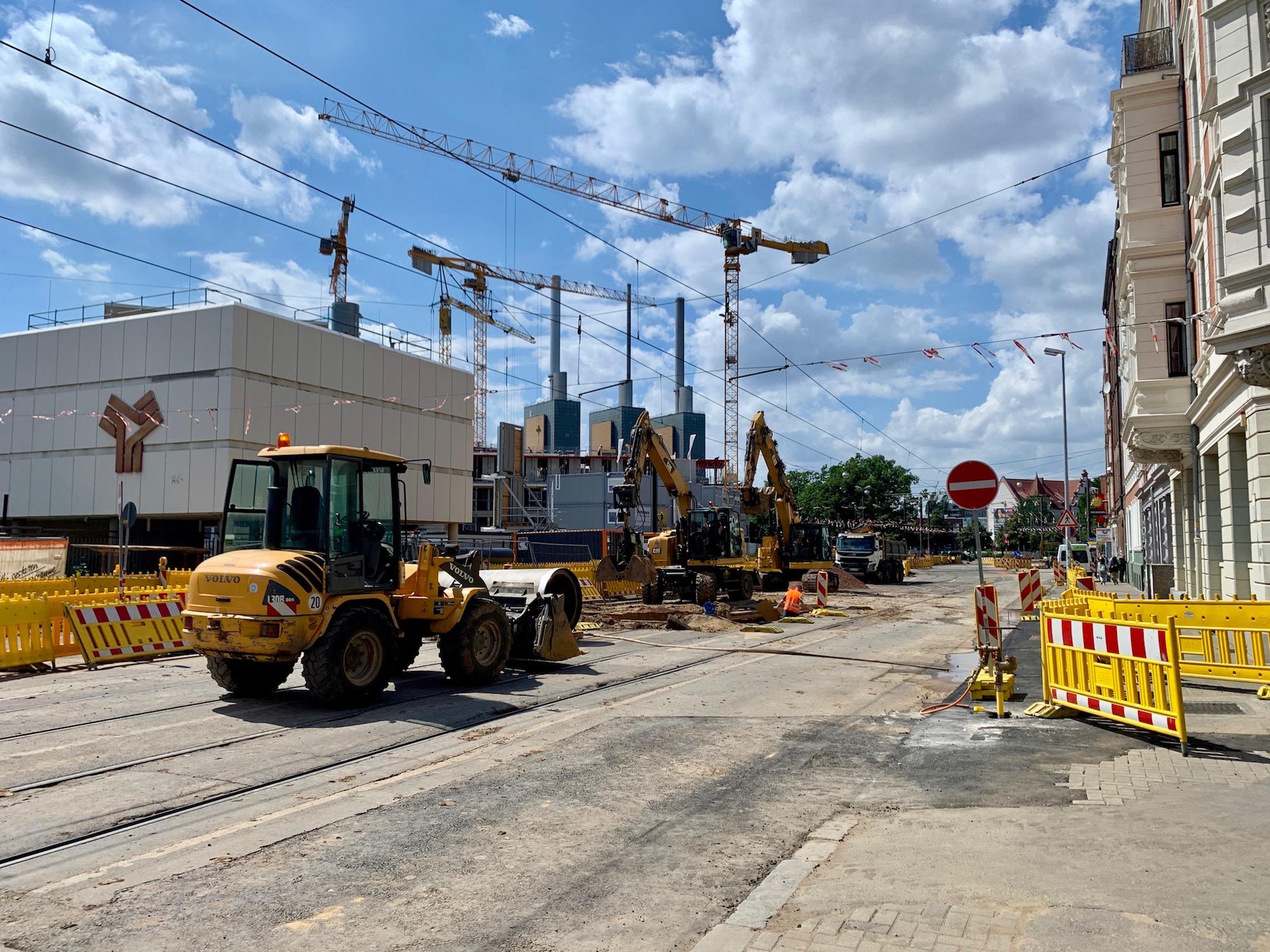 Bauarbeiten Braunstraße mit Sperrung stadtauswärts