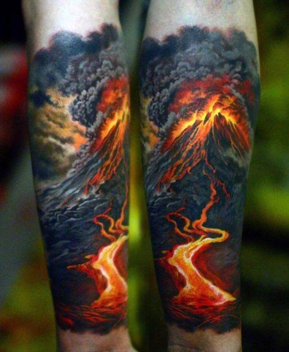a_atividade_vulcnica_do_antebraço_tatuagem