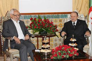 Ghannouchi effectue une visite éclair en Algérie