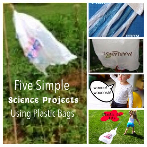 Teach your kids science and use up those plastic bags. These would be great for earth day!