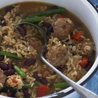 Meatballs with Beans and Rice