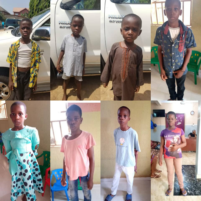 Gombe Police Returns Unclaimed Children To Anambra As Child Trafficking Kingpin Arrested (Photos)