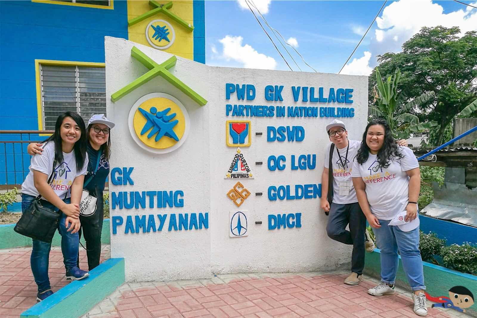 Renz Cheng in Gawad Kalingan Munting Pamayanan, Escopa 3, Project 4, Quezon City