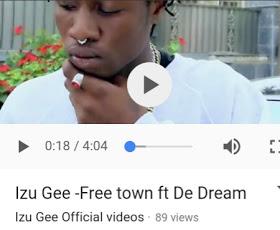 [New Video] Izu G ft Dreams - Free Town