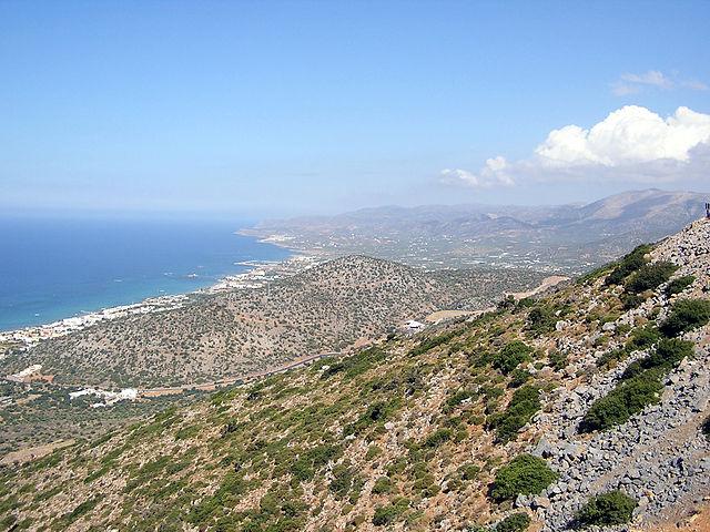 Panorámica de la zona de Gouves, en Creta (Grecia)