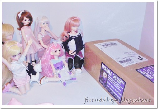 Unboxing a Hujoo Nano Freya, the tiny purple cat ball jointed doll.  Plus a surprise!