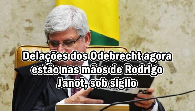 Delações dos Odebrecht agora estão nas mãos de Rodrigo Janot, sob sigilo