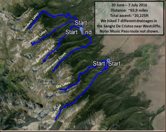 Westcliffe hike route summary