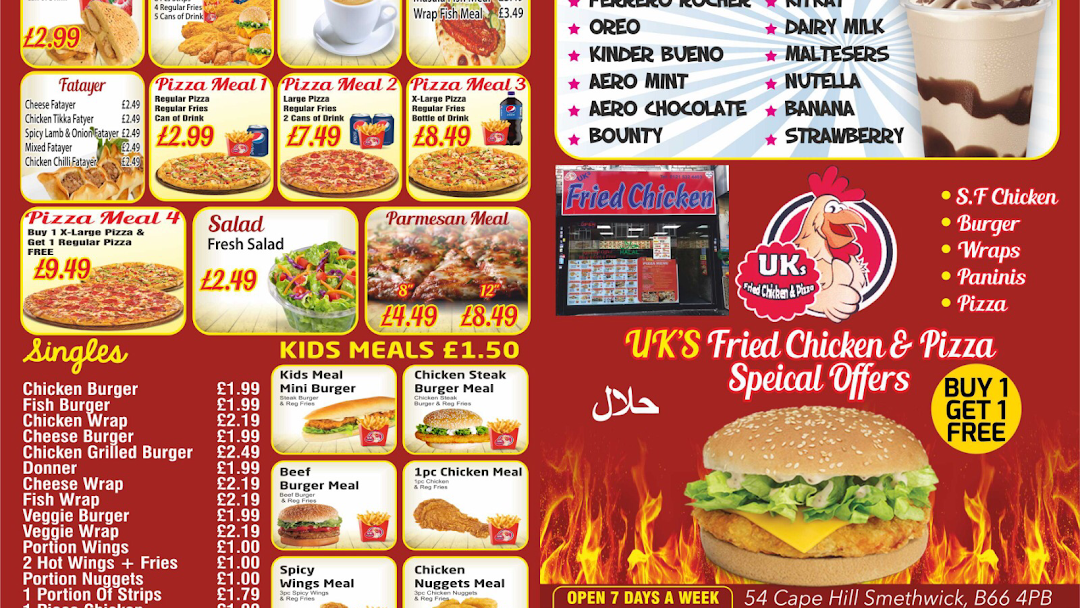 Uks Fried Chicken Pizza 746 Alum Rock Road Birmingham B8