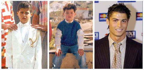 Cristiano Ronaldo Childhood Pitures