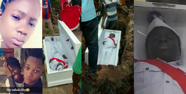 15-Year-Old Girl, Slimzy Jay Who Committed Suicide With Sniper Buried Amidst Tears (Heartbreaking Photos)