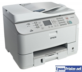 How to reset flashing lights for Epson WorkForce WP-4595 printer
