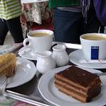 Polish desserts...mmm...chocolate cake, and apple cake!