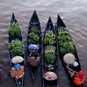 Floating Market by Lazuardi Normansah - City,  Street & Park  Markets & Shops