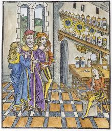 Woodcut 2 From Braunschweig Das Buch Der Cirurgia 1497, Emblems Related To Alchemy