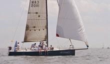 J/111 one-design speedster- BLAST- sailing Marblehead to Halifax race