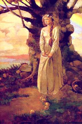 Idunna And Her Apple Tree, Asatru Gods And Heroes