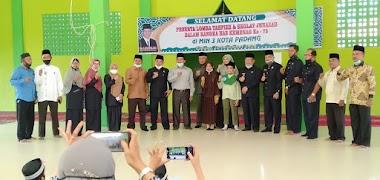 Kakan Kemenag Kota Padang H. Marjanis Buka Lomba Tahfiz dan Sholat Jenazah Antar MI se-Kota Padang