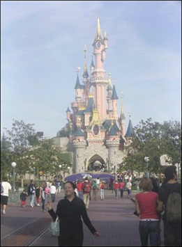 Me in front of Palace in Disneyland