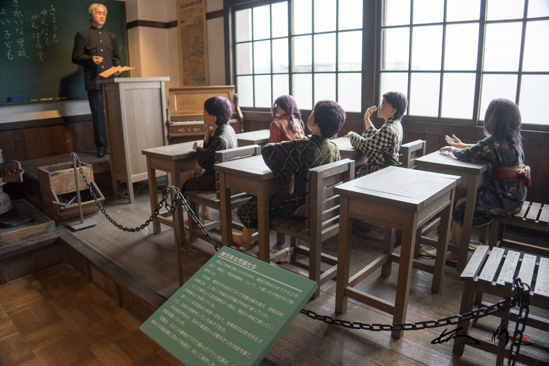 昭和初め頃の小学校授業風景