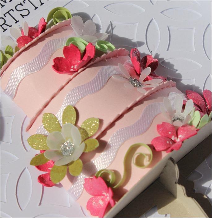 3D Cake Torte Hochzeit Geburtstag Wedding Birthday Quilling Flowers Card Karte 10