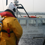 2011, 27 March – Poole lifeboat crew carrying out boundary cooling during a training exercise