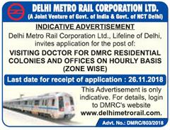 DMRC Visiting Doctor Advertisement 2018 www.indgovtjobs.in
