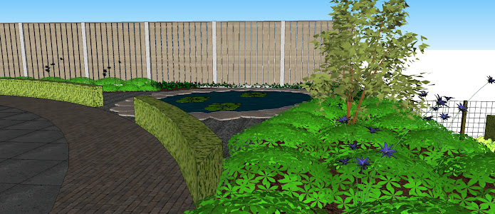 Natuurlijke tuin met hoogteverschil