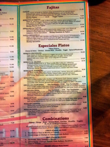 Dinner Menu, El Sombrero, Troy, Ohio