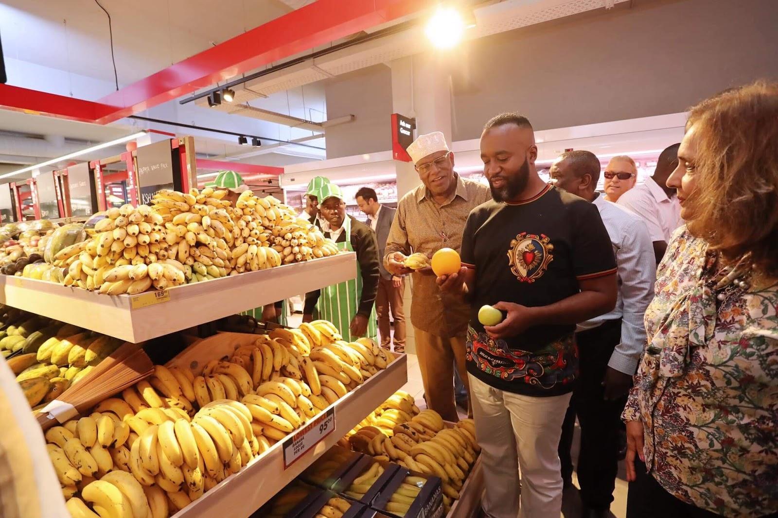 Mombasa governor Hassan Joho at Shoprite supermarket, city Mall. PHOTO | FILE
