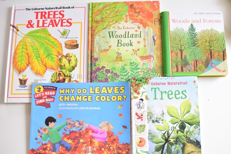 BOOKS ABOUT LEAVES, TREES, SEEDS, AND PLANTS