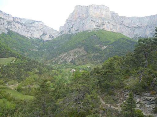 Sentier forestier montant en direction de Bénevise