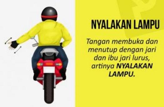 Kode Gerakan Tangan Dan Kaki Buat Touring Anak Motor - LAPAK MOTOR BEKAS | MOTKAS