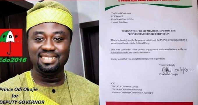 Mercy Johnson's Husband,Prince Odi Okojie Dumps PDP