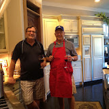 Chefs Rich de Lambert and Wayne Rowlands cooking