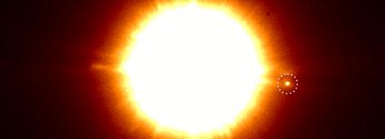 imagem infravermelha do binário CS Cha com o companheiro no círculo