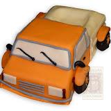 18. kép: Formatorták (fiúknak) - Narancs színű teherautó formatorta