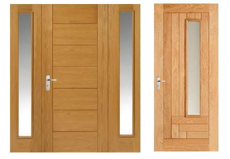 cửa gỗ cho tường nhà màu trắng