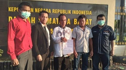 Dugaan Penguasaan Sertifikat Tanah Anggota Kelompok Tani, HS dan S Dilaporkan ke Polisi.