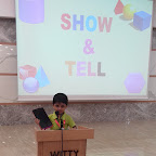 Show and Tell Activity by Nursery Evening Section at Witty World, Chikoowadi (2018-19)