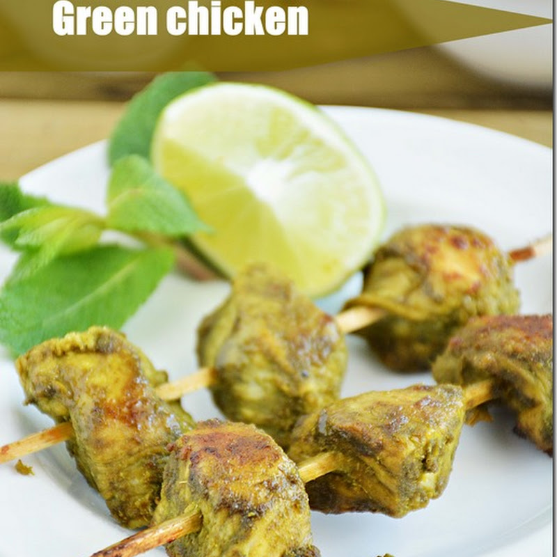 Green chicken / Baked green chicken